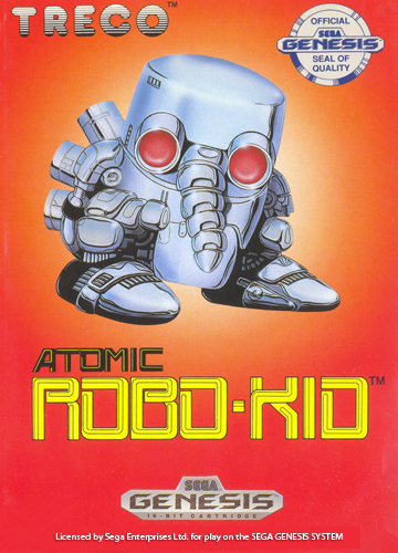 Atomic Robo-Kid Sega Genesis cover artwork