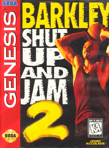 Barkley Shut Up and Jam! 2 Sega Genesis cover artwork