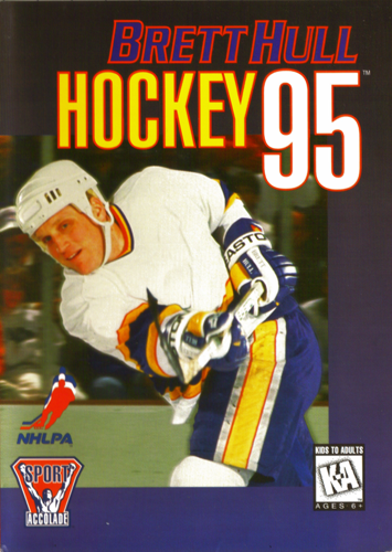 Brett Hull Hockey '95 Sega Genesis cover artwork