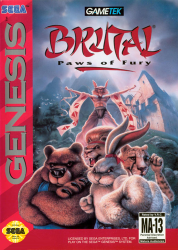 Brutal - Paws of Fury Sega Genesis cover artwork