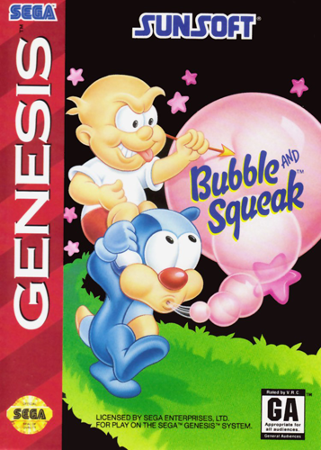 Bubble and Squeak Sega Genesis cover artwork