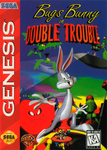 Bugs Bunny in Double Trouble Sega Genesis cover artwork