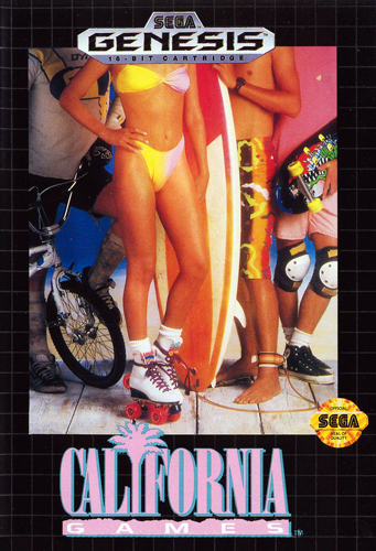 California Games Sega Genesis cover artwork