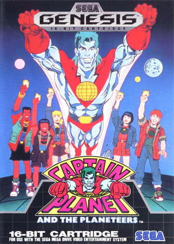 Captain Planet and the Planeteers Sega Genesis cover artwork