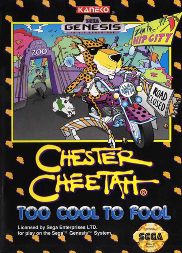 Chester Cheetah - Too Cool to Fool Sega Genesis cover artwork