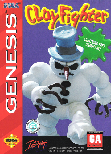Clay Fighter Sega Genesis cover artwork