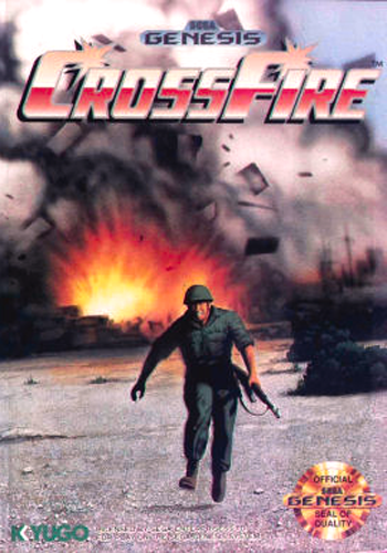 Cross Fire Sega Genesis cover artwork