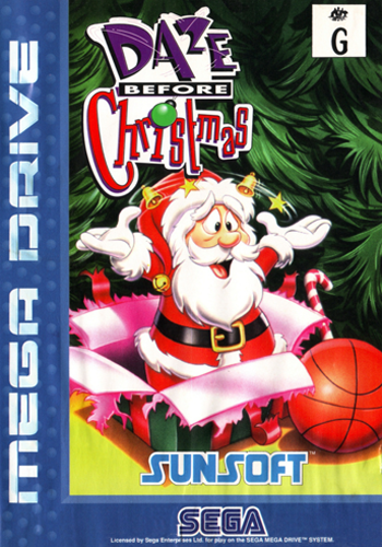 Daze Before Christmas Sega Genesis cover artwork