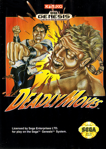 Deadly Moves Sega Genesis cover artwork