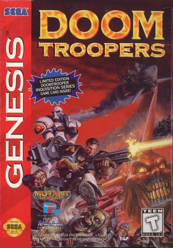 Doom Troopers - The Mutant Chronicles Sega Genesis cover artwork
