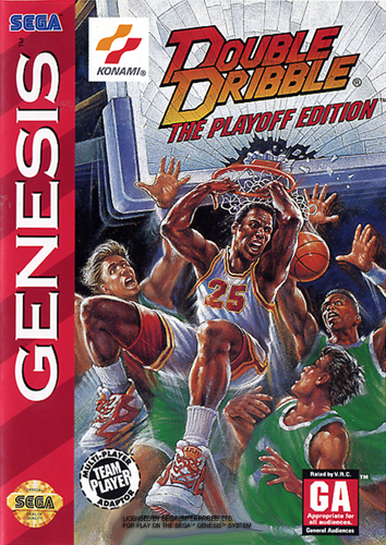 Double Dribble - The Playoff Edition Sega Genesis cover artwork