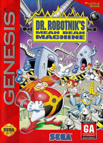 Dr. Robotnik's Mean Bean Machine Sega Genesis cover artwork
