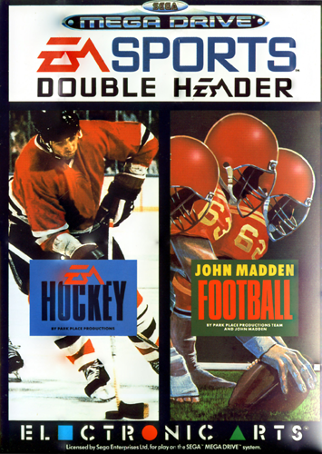 EA Sports Double Header Sega Genesis cover artwork