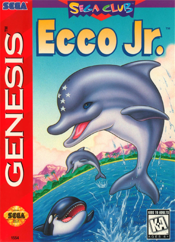 Ecco Jr. Sega Genesis cover artwork