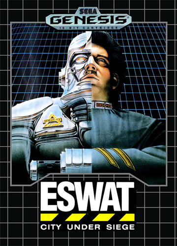ESWAT - City Under Siege Sega Genesis cover artwork