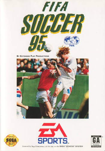 FIFA Soccer 95 Sega Genesis cover artwork