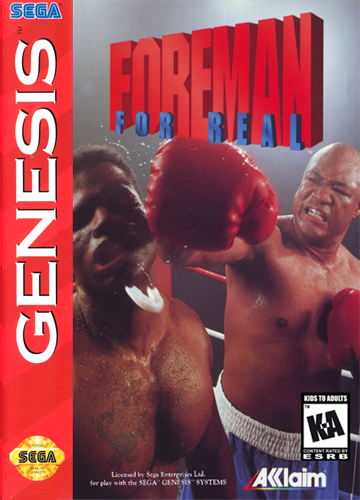 Foreman for Real Sega Genesis cover artwork