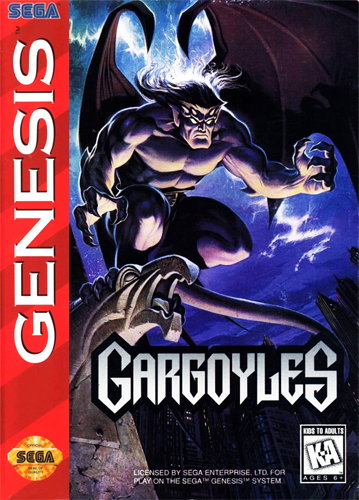 Gargoyles Sega Genesis cover artwork