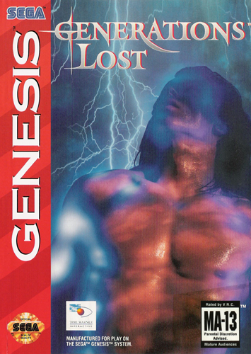 Generations Lost Sega Genesis cover artwork