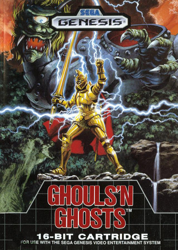 Ghouls 'n Ghosts Sega Genesis cover artwork