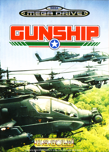 Gunship Sega Genesis cover artwork