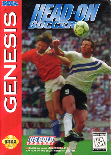 Head-On Soccer Sega Genesis cover artwork
