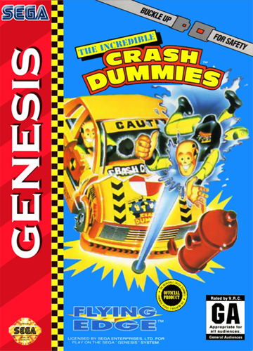 Incredible Crash Dummies, The Sega Genesis cover artwork