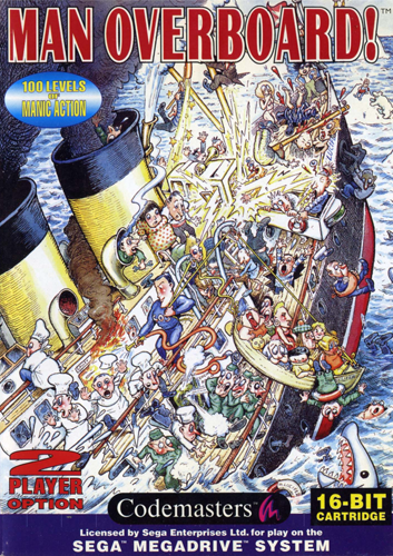 Man Overboard! Sega Genesis cover artwork