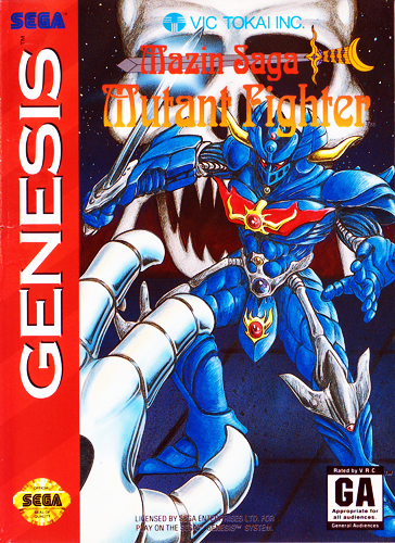 Mazin Saga - Mutant Fighter Sega Genesis cover artwork