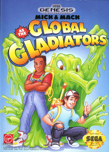 Mick & Mack as the Global Gladiators Sega Genesis cover artwork