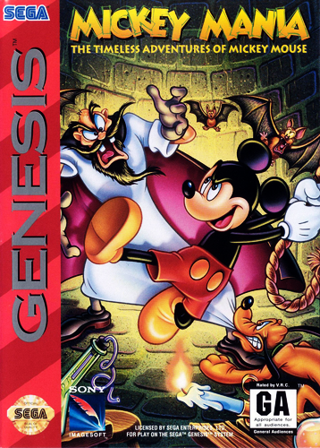 Mickey Mania - The Timeless Adventures of Mickey Mouse Sega Genesis cover artwork