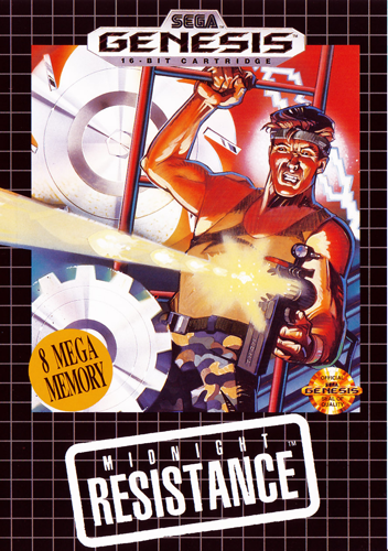 Midnight Resistance Sega Genesis cover artwork