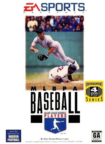 MLBPA Baseball Sega Genesis cover artwork