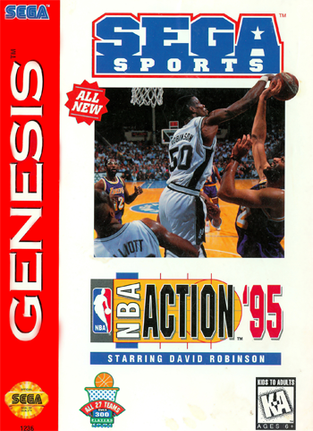 NBA Action '95 Starring David Robinson Sega Genesis cover artwork