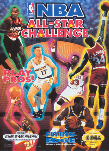 NBA All-Star Challenge Sega Genesis cover artwork