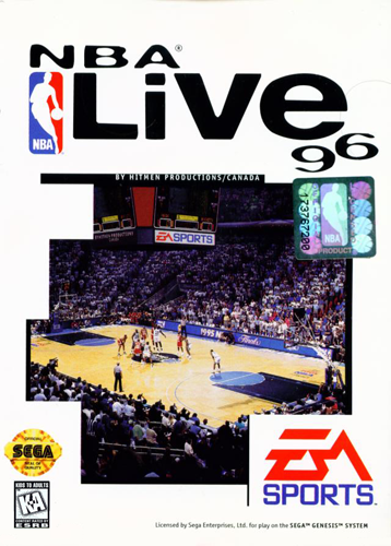 NBA Live 96 Sega Genesis cover artwork