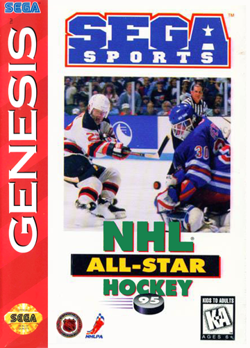 NHL All-Star Hockey '95 Sega Genesis cover artwork