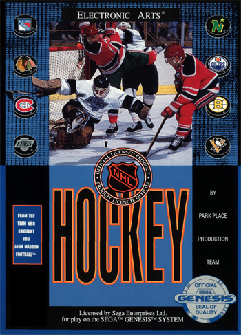 NHL Hockey Sega Genesis cover artwork
