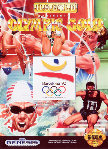 Olympic Gold Sega Genesis cover artwork