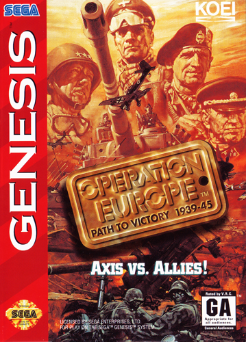 Operation Europe - Path to Victory 1939-45 Sega Genesis cover artwork