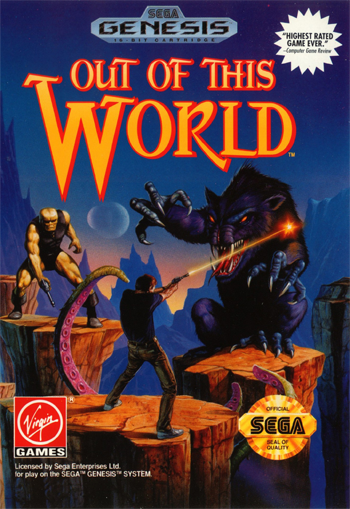 Out of This World Sega Genesis cover artwork