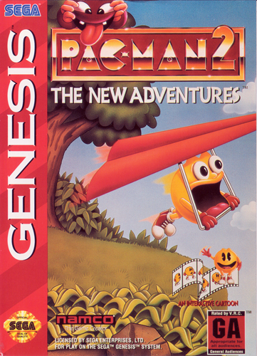 Pac-Man 2 - The New Adventures Sega Genesis cover artwork