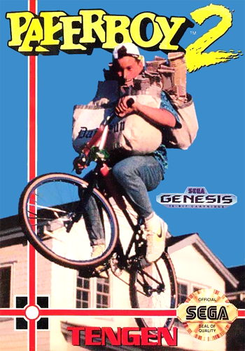 Paperboy 2 Sega Genesis cover artwork