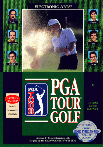 PGA Tour Golf Sega Genesis cover artwork