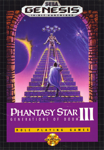 Phantasy Star III - Generations of Doom Sega Genesis cover artwork