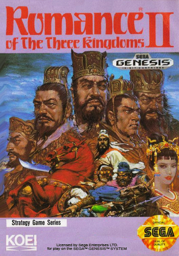 Romance of the Three Kingdoms II Sega Genesis cover artwork