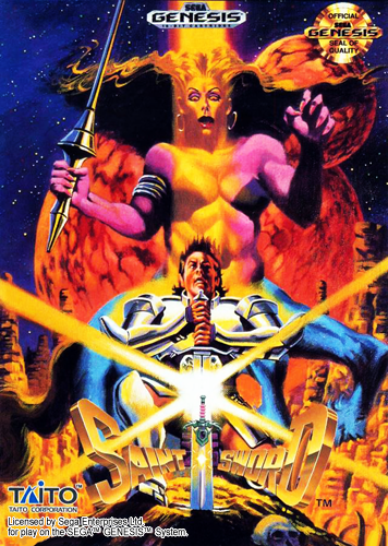 Saint Sword Sega Genesis cover artwork
