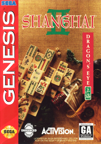 Shanghai II - Dragon's Eye Sega Genesis cover artwork