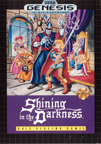 Shining in the Darkness Sega Genesis cover artwork
