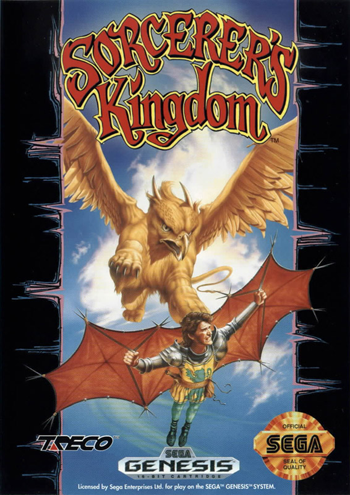 Sorcerer's Kingdom Sega Genesis cover artwork